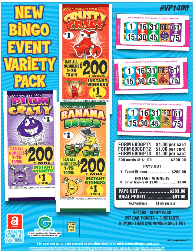 New Bingo Event Variety Pack